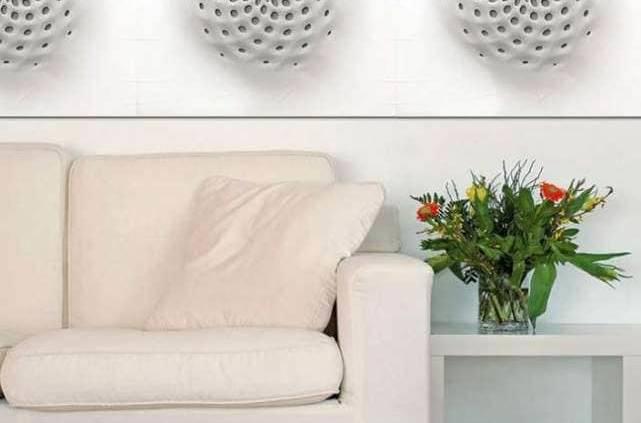 Panneaux muraux Phyllotaxis qui s'inspirent de la spirale de Fibonacci. ©DuPontTM Corian®