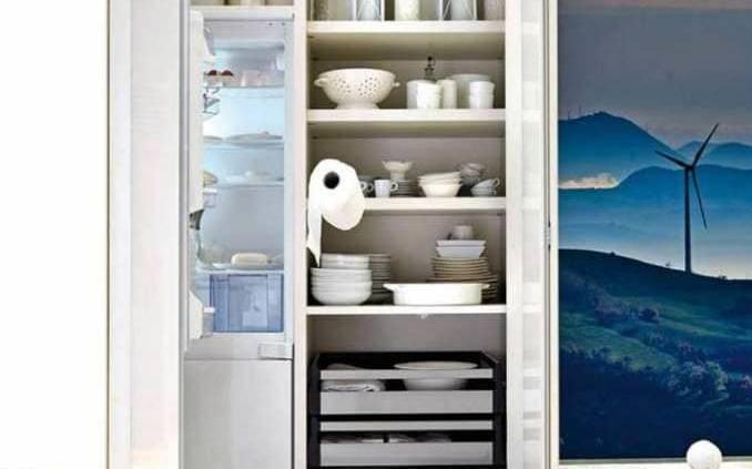 Petite révolution dans le rangement, la cuisine 36e8 consacre ses modules et armoires à l'optimisation. Vous concevez vos combinaisons, organisez les modules, selon vos desiderata, avec un large éventail de possibilités de contenance, d'astuces et de coloris… ©Lago Cucine