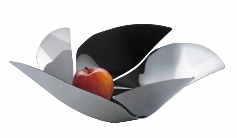 Porte-fruits en acier inoxydable. Design Odile Decq. ©Alessi