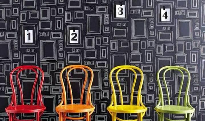 Frames Original de Taylor & Wood : Le premier papier peint à customiser de Graham & Brown ! Créée par Taylor & Wood en 2004, Frames est la collection de papier peint à colorier ayant rencontré le plus grand succès à ce jour chez Graham & Brown. ©Graham & Brown