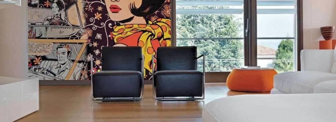 Hors des sentiers battus, le papier peint Mascia traduit l'expérimentation même de la matière. Via un procédé unique de fibre de verre, l'innovation s'immisce même au cœur de votre douche, tout en étant étanche. Les formes, les motifs sont en 3 dimensions, pour un rendu bluffant. Au sein de votre salon, l'effet visuel est à la hauteur des décors. ©Inkiostro Bianco