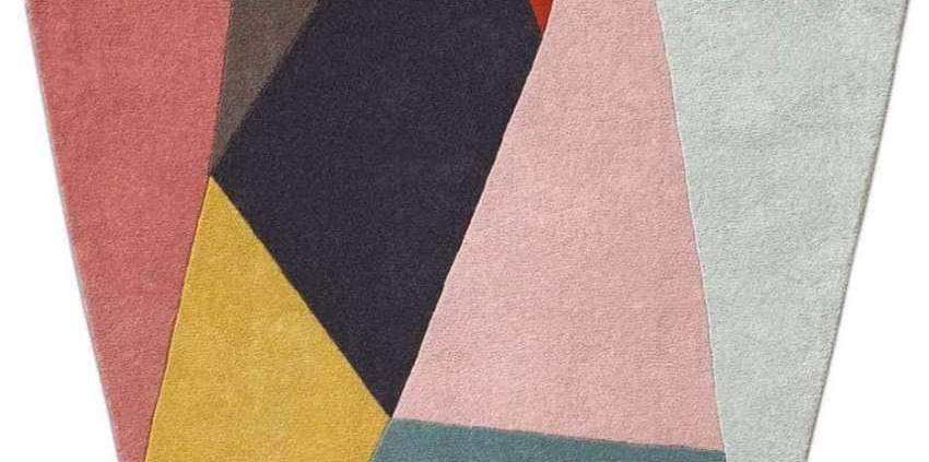 BoConcept, Asuka Tapis mutlicolore, 100 % laine. 150 x 150 cm. ©BoConcept