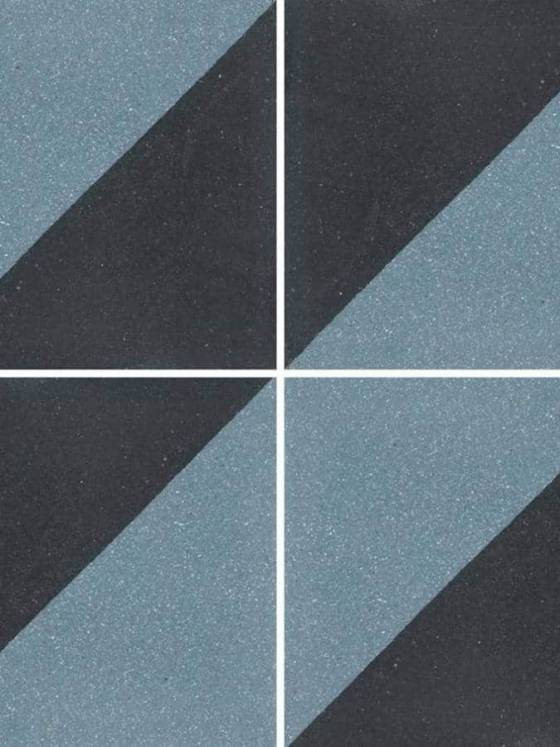 Couleurs & Matières - Fabrication à base de ciment teinté dans la masse, avec granulat de marbre. Modèle Duo. ©Couleurs et Matières