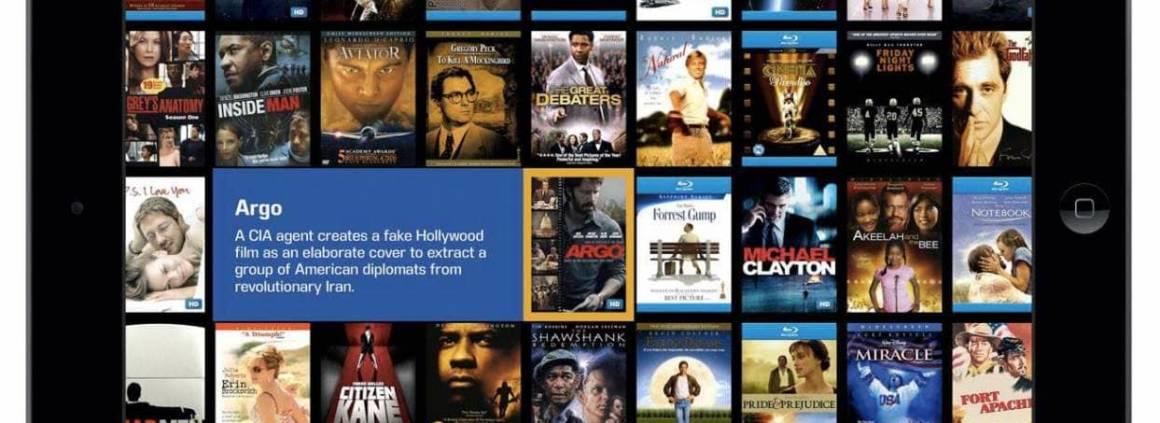 Interface tactile reliée directement à un serveur de stockage dédié au Blu-Ray et films. ©Kaleidescape