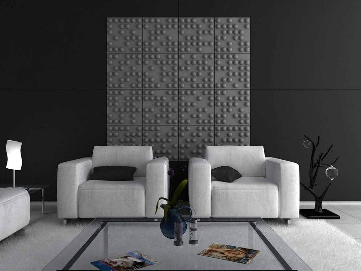 Panneaux muraux ou plafond Tetris, disponibles en 15 coloris ou sur-mesure. Répond aux normes anti-feu et acoustiques. ©Soundtect