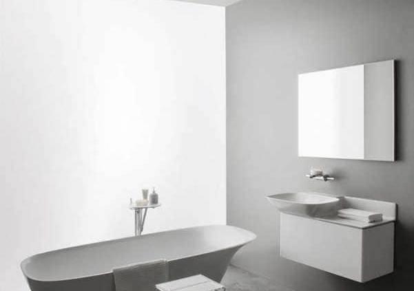 La marque Laufen n'a pas hésité a donné la parole à plusieurs designers reconnus, pour façonner la nouvelle céramique ultra-fine et résistante SaphirKeramik. Ici, Toan Nguyen exprime toute sa créativité au service d'une vasque étonnante, déjà récompensée au design Plus Award 2015. ©Laufen