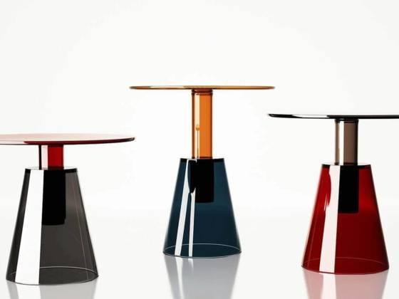 Tables basses en verre d'Istanbul. Design par Christophe Pillet - Disponibles en 3 hauteurs ©Enne
