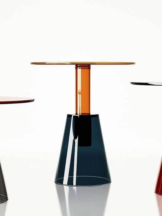 Tables basses en verre d'Istanbul. Design par Christophe Pillet - Disponibles en 3 hauteurs ©Enne