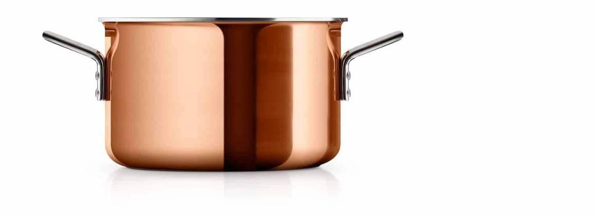 Eva Solo - Faitout en cuivre, avec un diamètre de 20 cm pour une contenance de 3,9 litres. ©Eva Solo