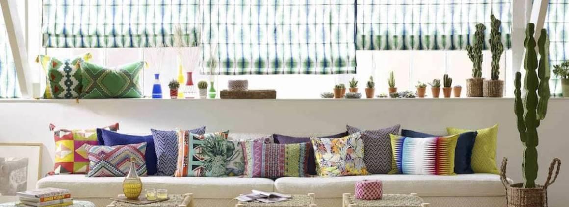 Collection Maya, modèle Maya Pivert (lin et laine), Tiago Majorelle (faux-unis Jacquards), Paolo Océan (coton, laine et acrylique), Modèle du fond Papagayo (lin), Coban Amazone (lin)…
