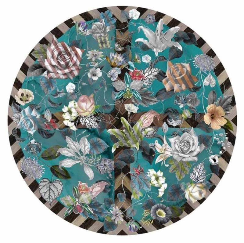 Christian Lacroix Maison pour Moooi Carpets , Malmaison Aquamarine