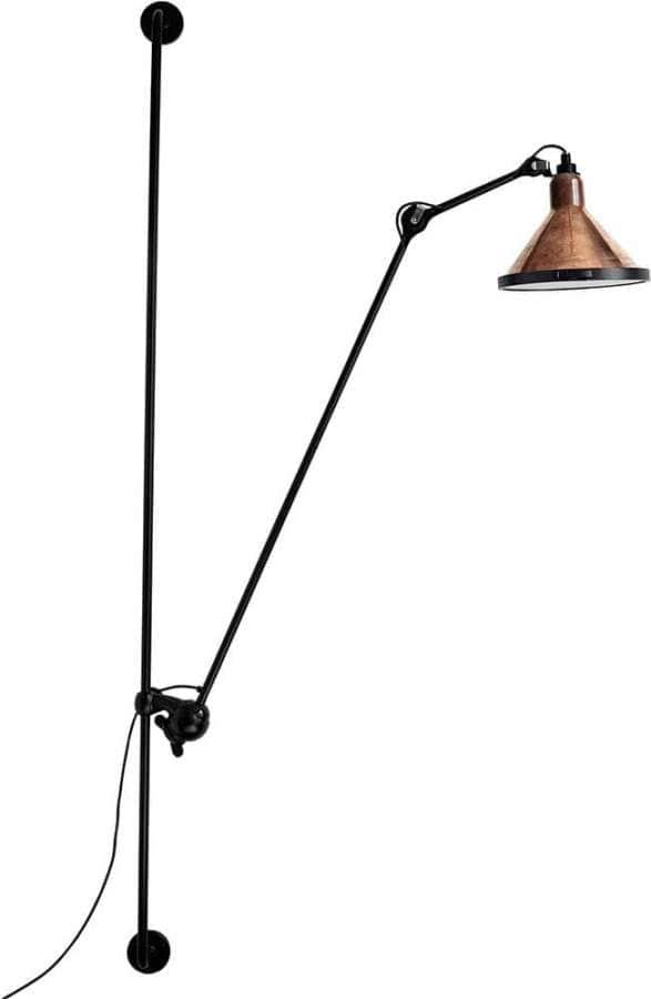 DCW Éditions, Lampe Gras N214 – Applique extérieure version XL avec fontes en inox, joints d'étanchéité en silicone et réflecteurs en borosilicate. 225 H cm.