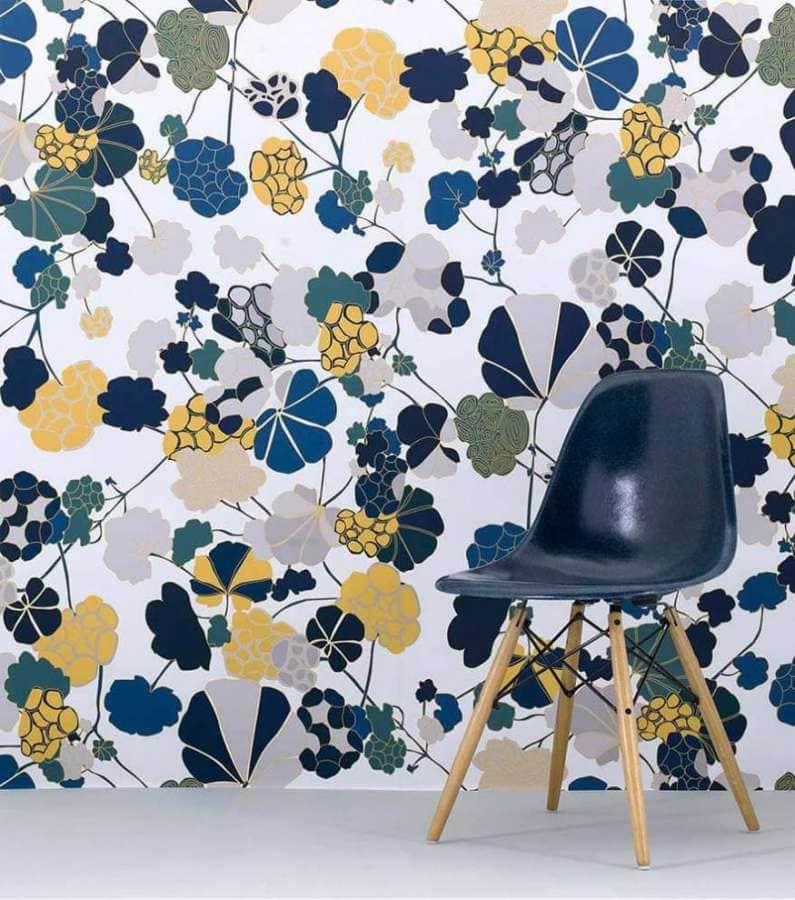 Papier P eint Florescence. Lé 280 x 80 cm. Design Annabelle Vermont, S tudio Forestine.