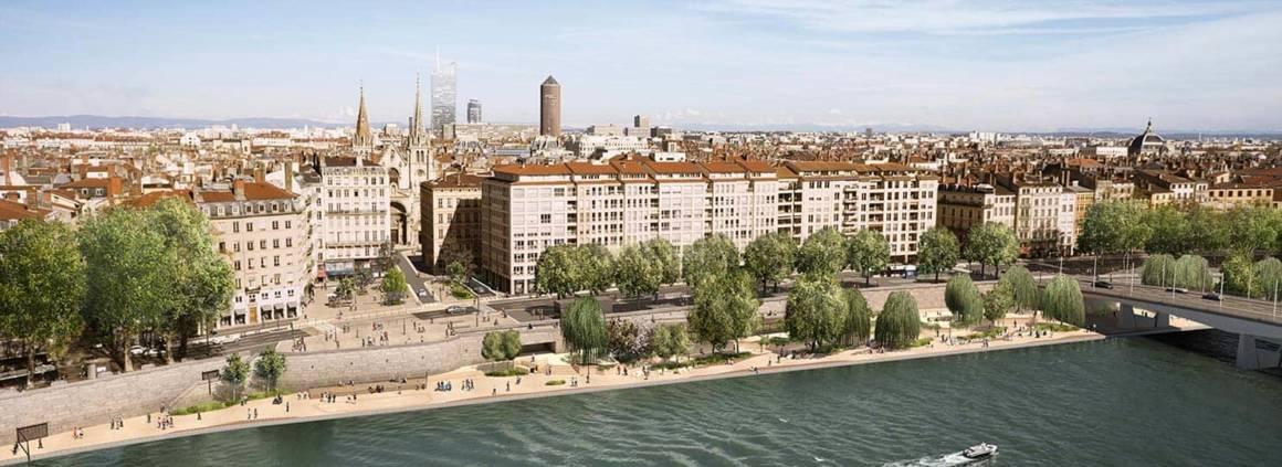 Aménagement urbain sur 2 hectares entre les places Saint Nizier et d'Ambon et le site de l'actuel parking Saint-Antoine. ©Wilmotte & Associés