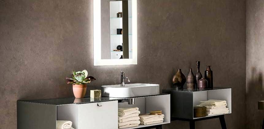 Collection Dama en verre duralite®, structure monobloc avec caissons modulables. ©Artelinea
