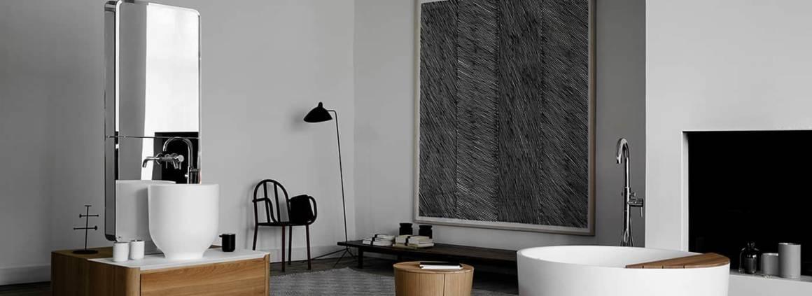 Collection Origin, bois, verre, métal, céramique entre artisanat et industrie. Prix Design Plus ISH 2017. ©Inbani Design