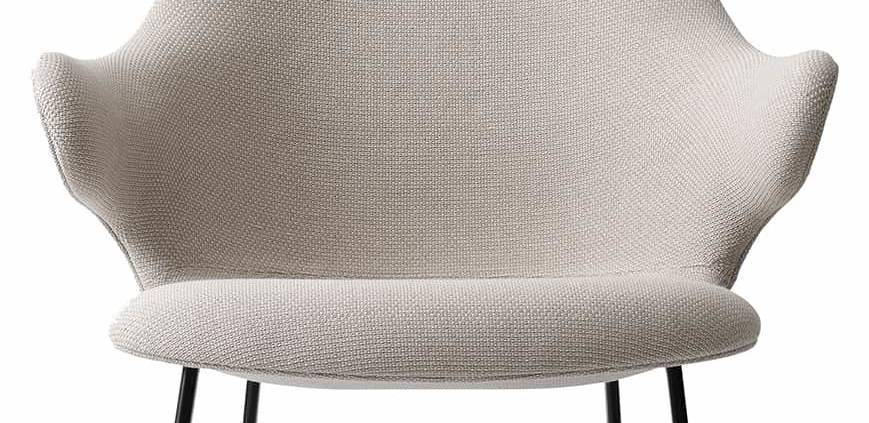 Fauteuil Catch Lounge, en mousses et tubes d'acier, revêtement tissu Jacquard Front. Modèle JH13. Design Jaime Hayon. H 86 x L 82 x P 92 cm. ©&tradition