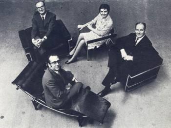 Groupe fondateur : Adele Cassina, Umberto Cassina, Cesare Cassina et Franco Cassina. ©Cassina Historical Archives