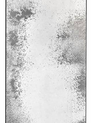 Miroir vieilli Clear Floor entouré par un cadre métallique. L 71 x H 244 x P 3 cm. ©Notre Monde