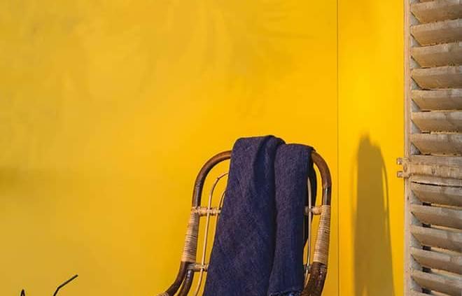 Peinture Bikini, jaune lumineux et solaire. ©Flamant par Tollens