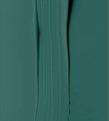 Peinture naturelle et écologique, coloris Yucatan, vert bleu profond. ©Pure & Paint
