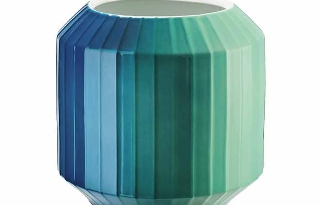 Vase Hot Spots, modèle Coastal Shades (littéralement nuances côtières) en porcelaine. Design Rathmann Christine. H 22 cm. ©Rosenthal