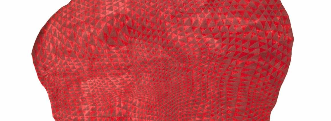 Tapis Elisse, collection Hélios en laine d'Himalaya nouée main et soie. Sur-mesure. Design Florian Pretet. ©Atelier Février