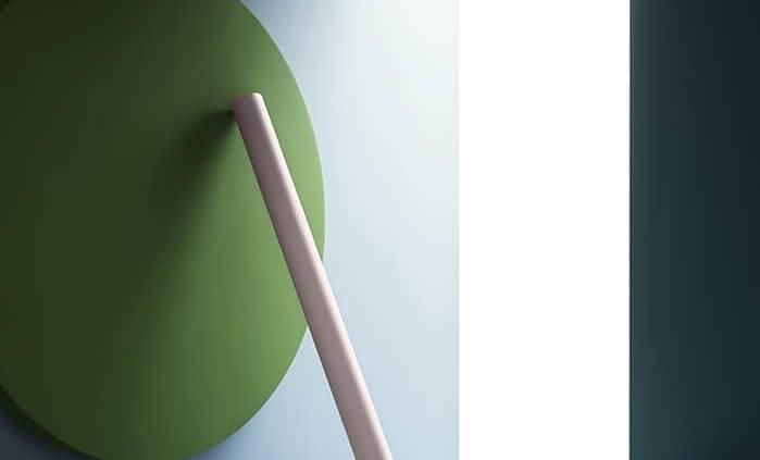 Première collection de peintures murales premium Wall&Decò. Variation de vert des près, bleu et rose pastel. Design Christian Benini. ©Wall&Decò