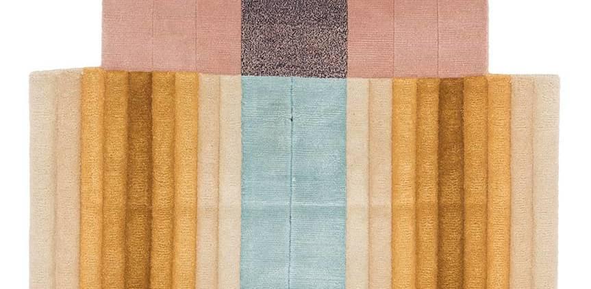 CC-Tapis, Bliss Wall - Tapis noué main au Népal, en laine et soie. Design Mae Engelgeer. 85 x 150 cm. ©CC-Tapis