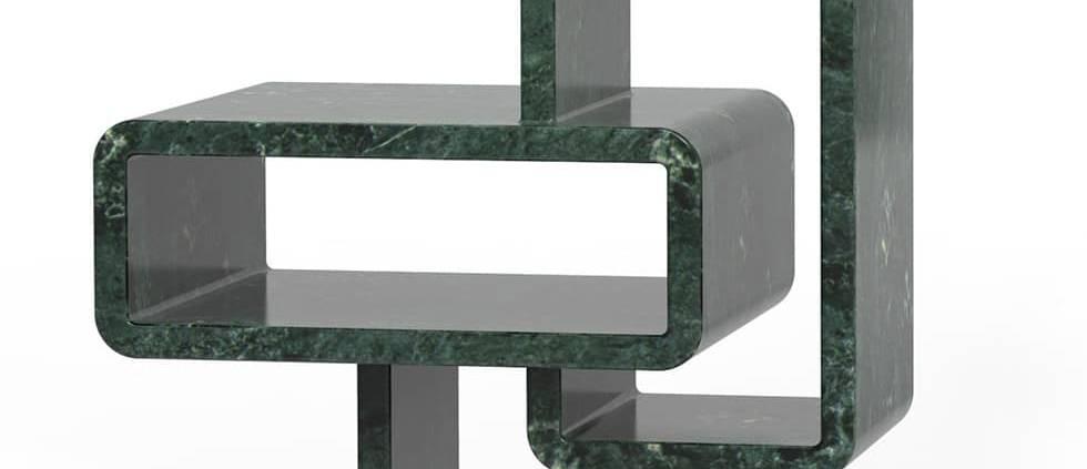 Citco, Mineral Structures - Bibliothèque extraite d'un seul bloc de marbre, issue des technologies les plus avancées et retravaillée par des artisans. Design Arik Levy. ©Citco