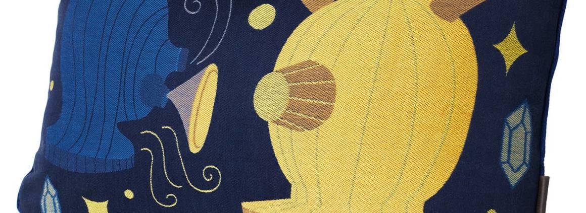 Republic of Fritz Hansen Coussin en coton, Design Jaime Hayon 58 x 37 cm. ©Republic of Fritz Hansen
