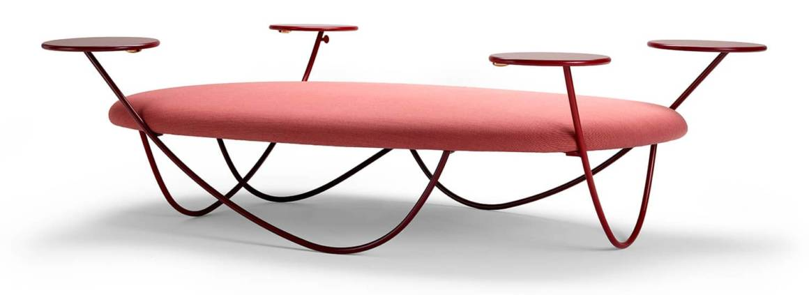 Offecct, Dune - Nouvelle typologie de meubles pour les espaces de travail et les espaces publics, pouvant accueillir jusqu'à 8 personnes. Design Front. ©Offecct