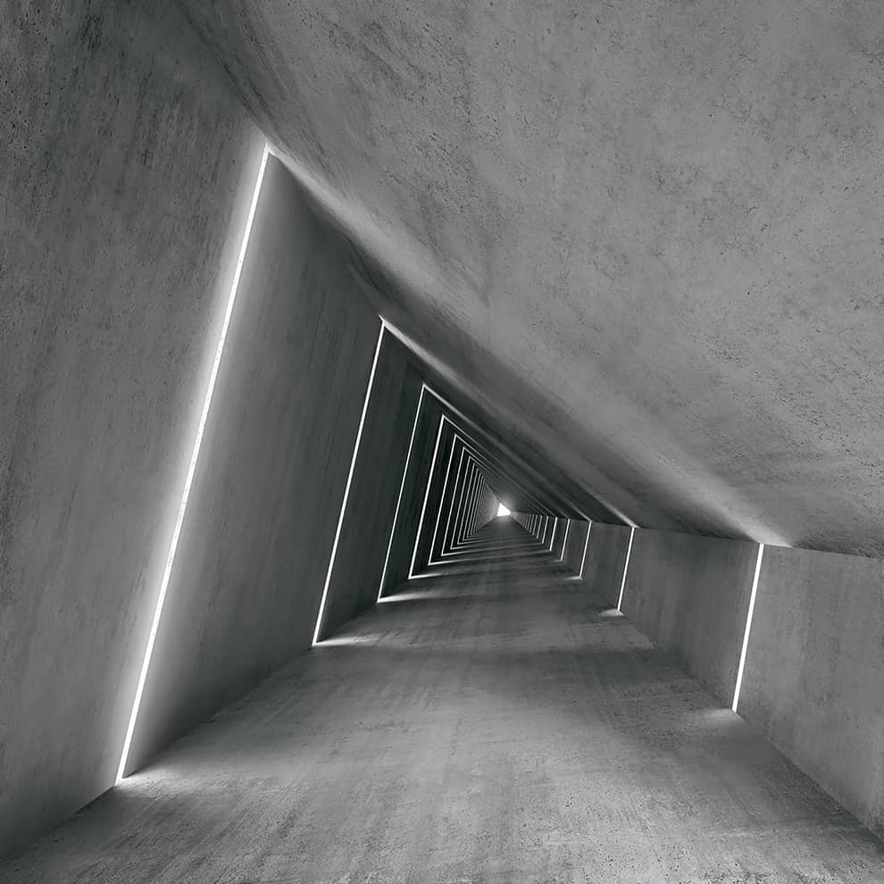 Système architectural modulaire de profilés linéaires en aluminium Fylo+ Direct, avec éclairage intégré - Diffuseur en polycarbonate - Source LED - ©Linea Light