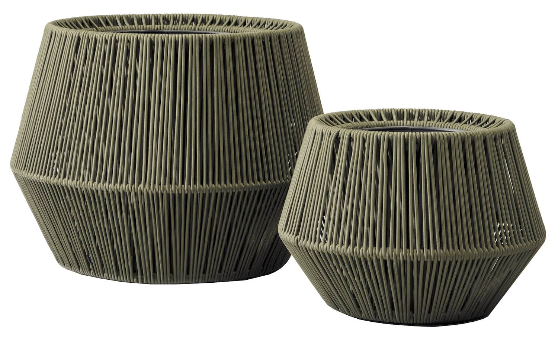 Pots de fleurs Zigzag, en cordes et aluminium. L 101 x H 76 cm. Design Emiliana. ©Kettal