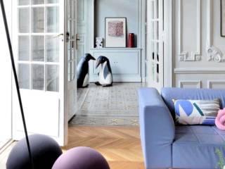 Un bel appartement Haussmannien réhabilité par l'architecte Isabelle Bouchet