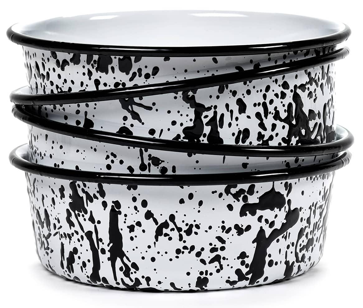 Serax, Pasta&Pasta - Bols en acier inoxydable et émail. ø 22 x H 7,5 cm. Design Paola Navone. ©Serax