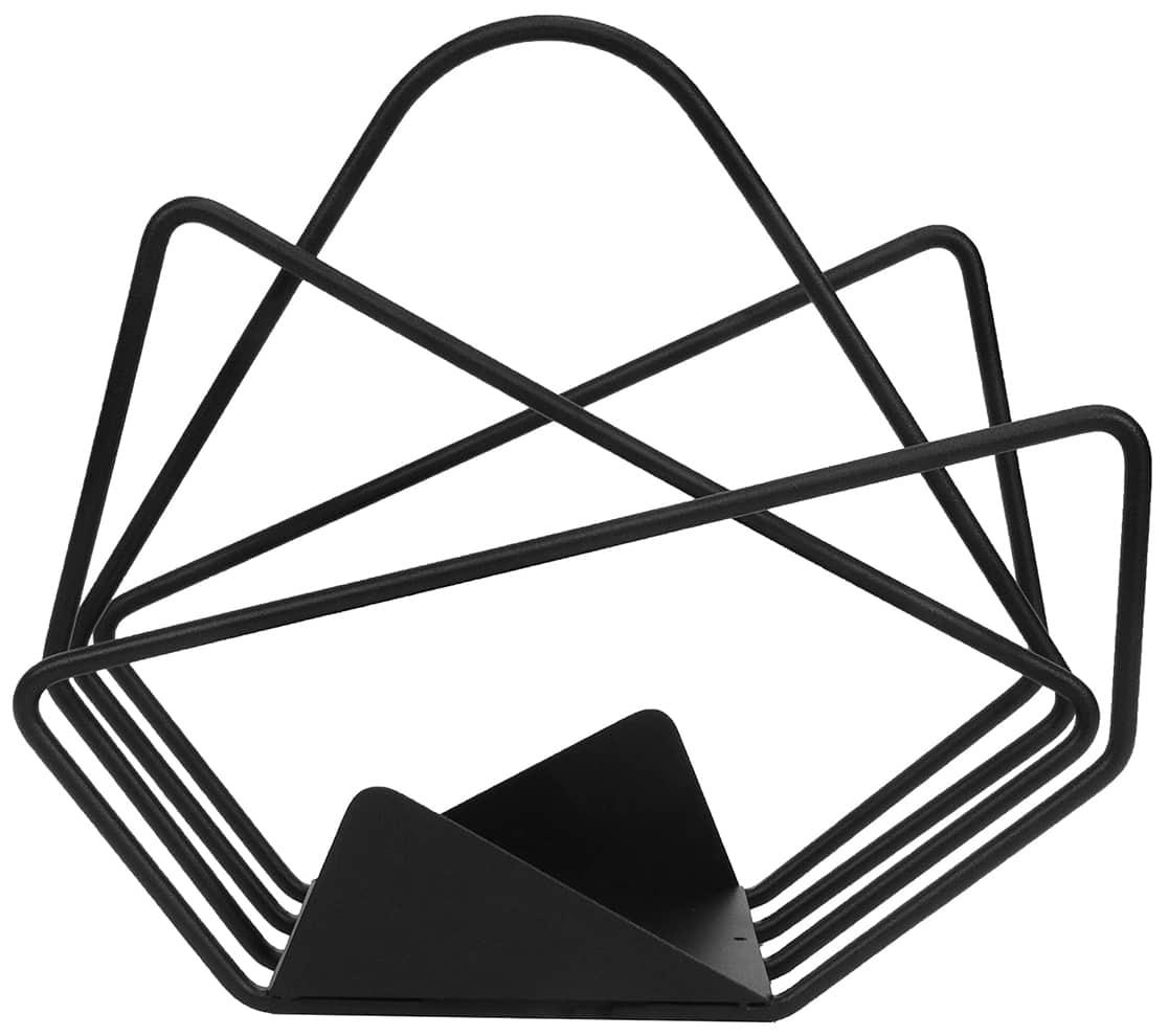 Les Iresistub, Philéas - Porte revues en fil et tôle acier. L 34 x P 15 x H 34 cm. ©Les Iresistub
