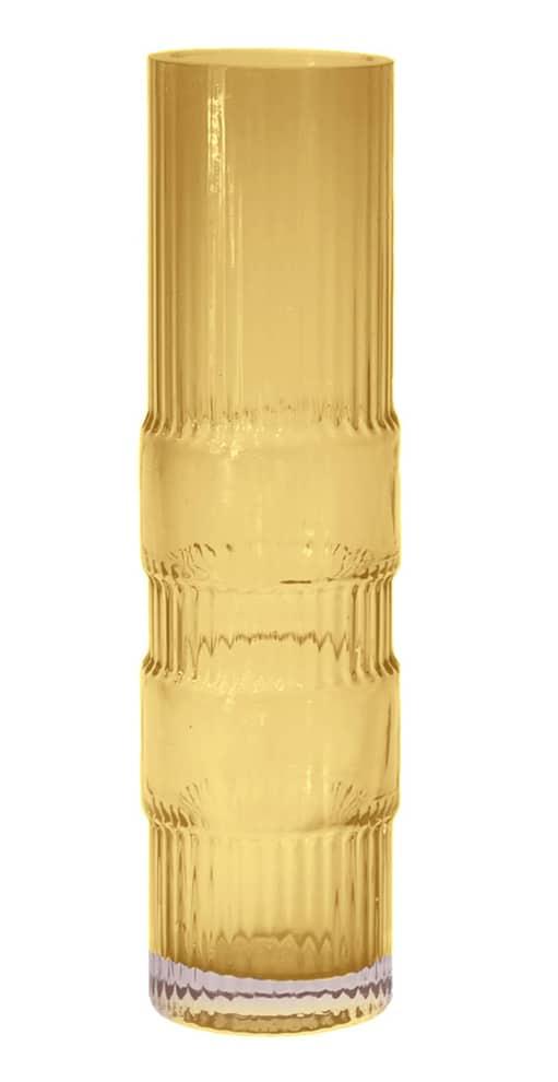 ENOstudio, Ondin - Vase en verre coloré soufflé à la bouche. coloris ambre. Modèle moyen ø 8 x H 29 cm. Design Benjamin Graindorge. ©ENOstudio
