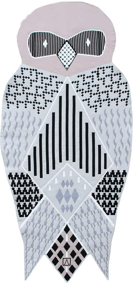 Ateliers Aubusson, Hibou - La plus célèbre tapisserie se met au goût du jour. Une interprétation contemporaine de Marie-Aurore Stiker-Metral. ©Ateliers Aubusson