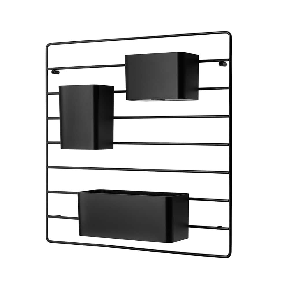 String® - Système de rangements polyvalent avec grille murale 40,5 x 40,5 cm et accessoires en 3 dimensions, String +. ©String®