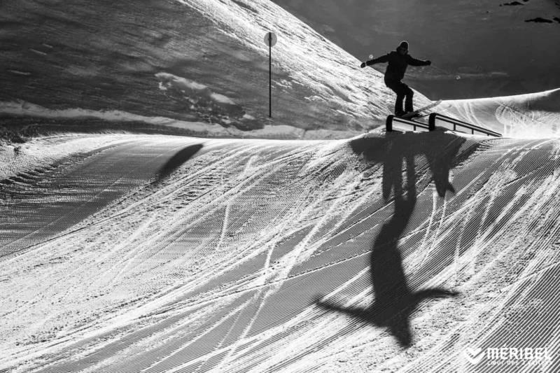 Snowpark Méribel-Mottaret. Photographe Sylvain Aymoz. Méribel Tourisme