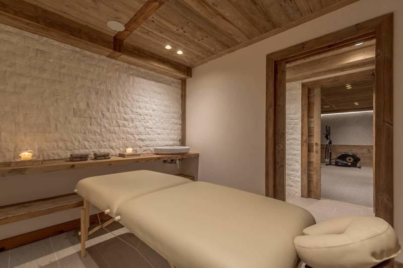 Chalet Luxor Megève - l'espace fitness, massage