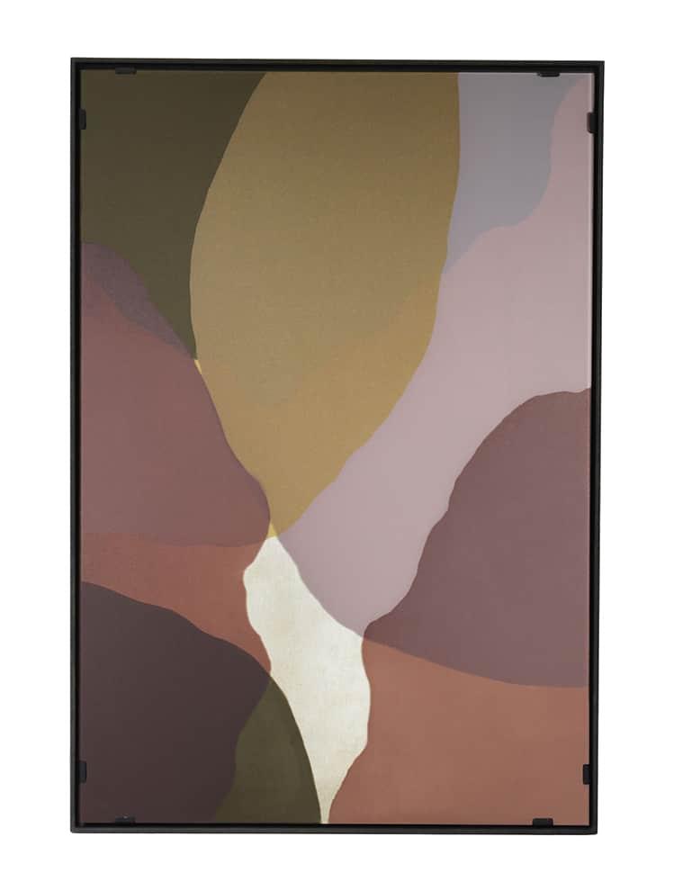 Notre Monde, Rose Wall Art œuvre murale en verre peint à la main et cadre en bois. 66 x 4 x 97cm. ©Notre Monde