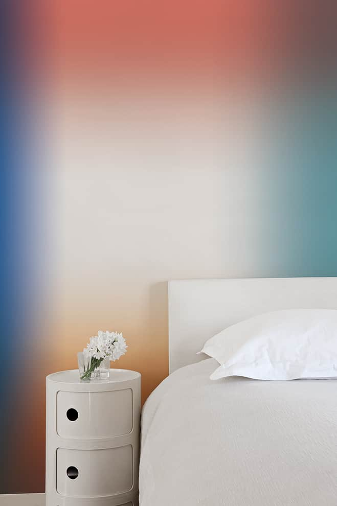 Papier peint ASMR (Réponse Automatique des Méridiens Sensoriels). Modèle Oméga. 3 lés de 2,80 m x 91,4 cm soit 2,74 m de largeur. ©Bien Fait