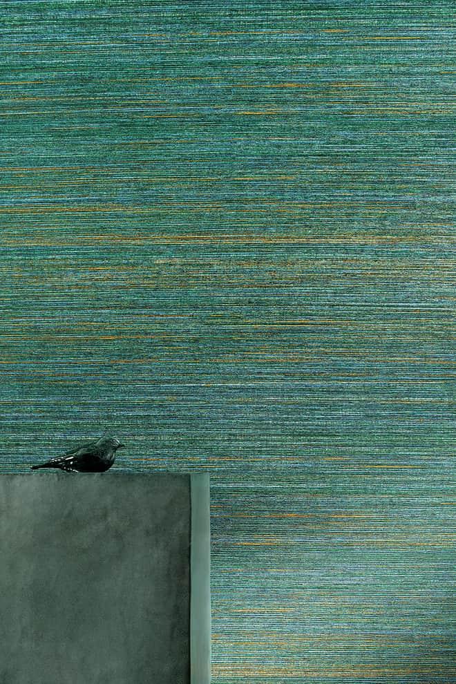 Papier peint Twist de la collection Panama. Rouleau de 10 x 1 mètres de large. ©Élitis
