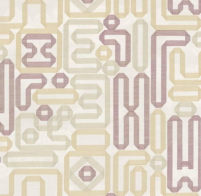 Jacquard rubans brodé sur twill de laine ©hermès