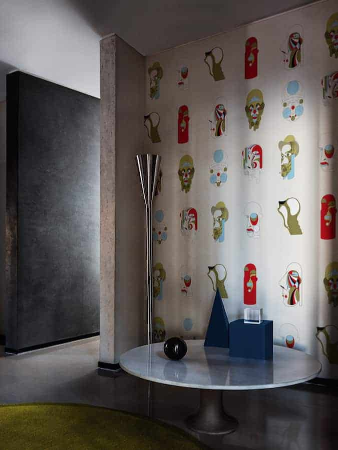 Papier peint Who is Who, collection Contemporary. Design Federico Pepe. ©Wall&Decò