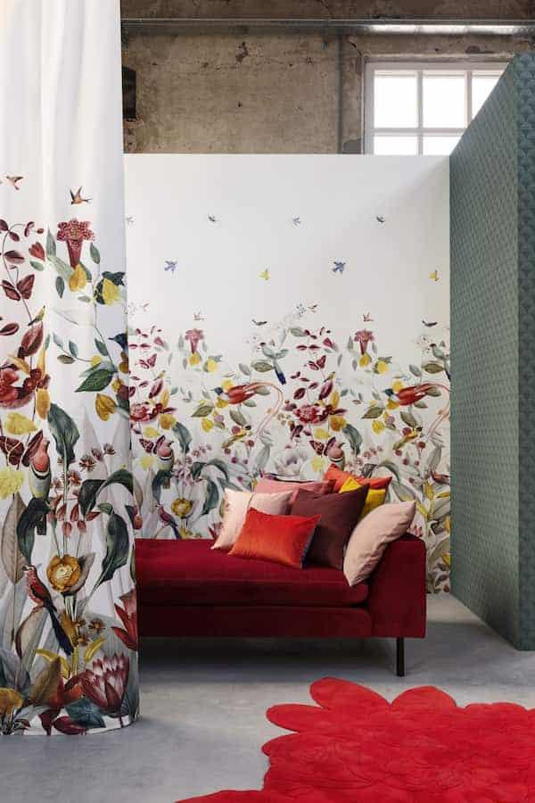 Tissu d'ameublement de la collection de linge de lit kotori ©christian fischbacher