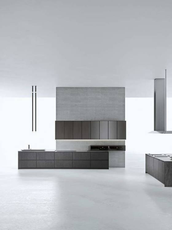 La cuisine AkB 08 résulte d'un projet élaboré par le designer Franco Driusso et le chef Andrea Berton