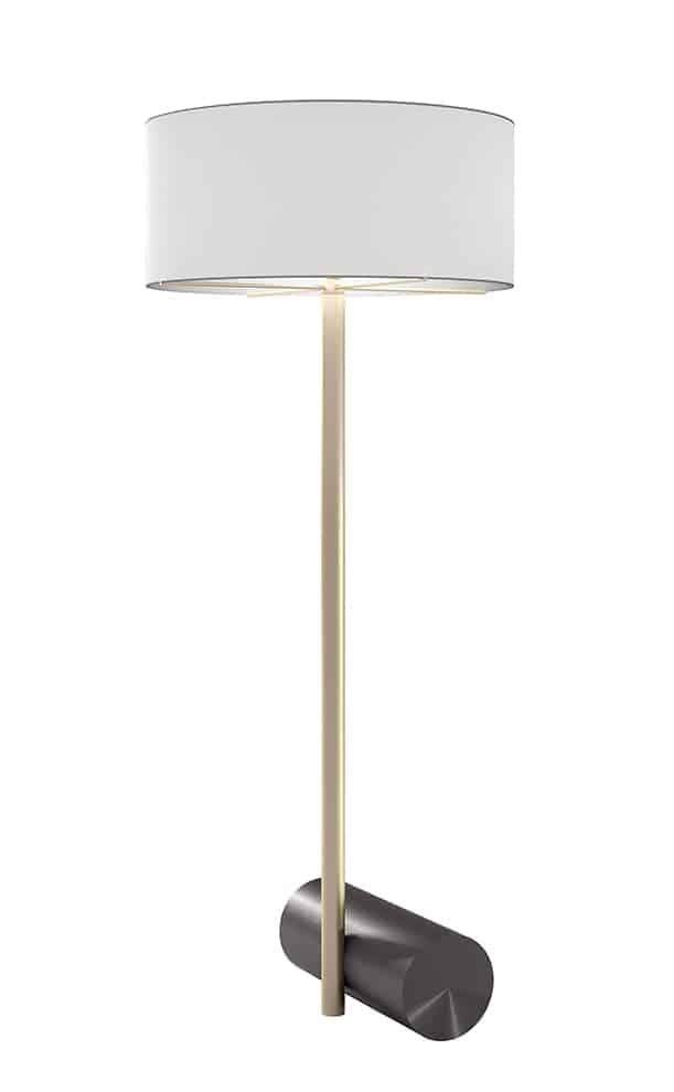 Lampadaire Calée XL, en laiton. L 70 x H 170 x P 70 cm. Design Studio Pool. ©CVL Luminaires